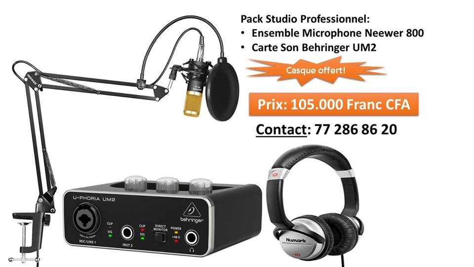 Pack Professionnel Studio Microphone&Carte Son
